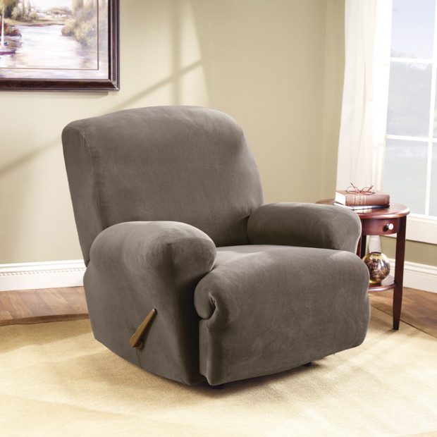 Sure Fit Recliner Pearson Cover - Taupe