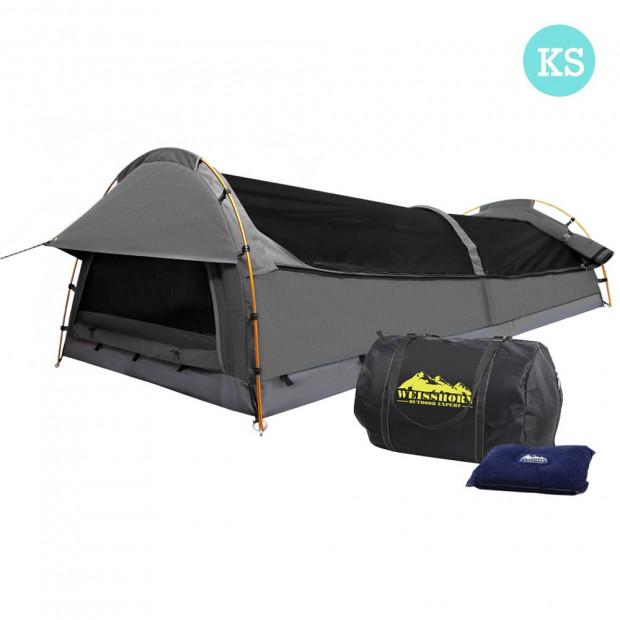 King Single Camping Swag Grey