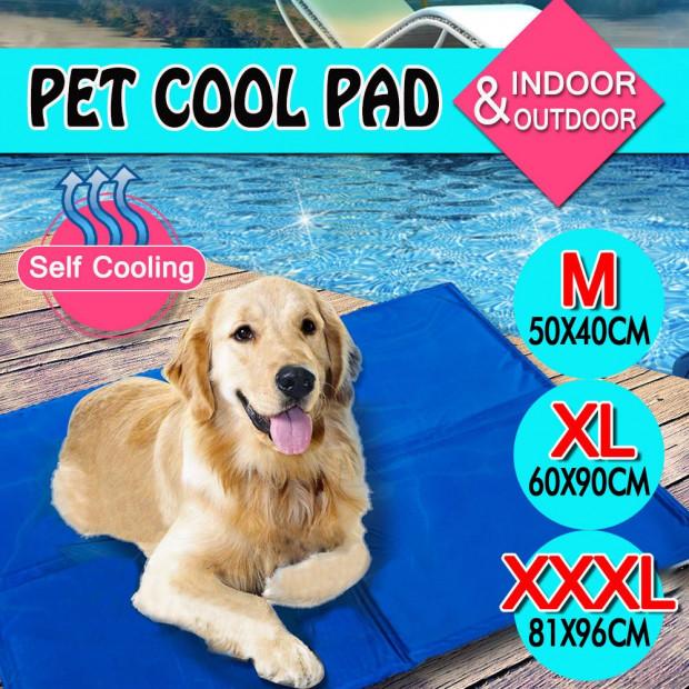 Pet Bed Self Cooling Gel Mat Size Medium 50x40 Cm