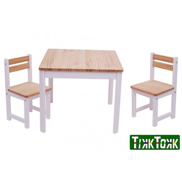 TikkTokk ENVY Table & Chairs Set - SQUARE White