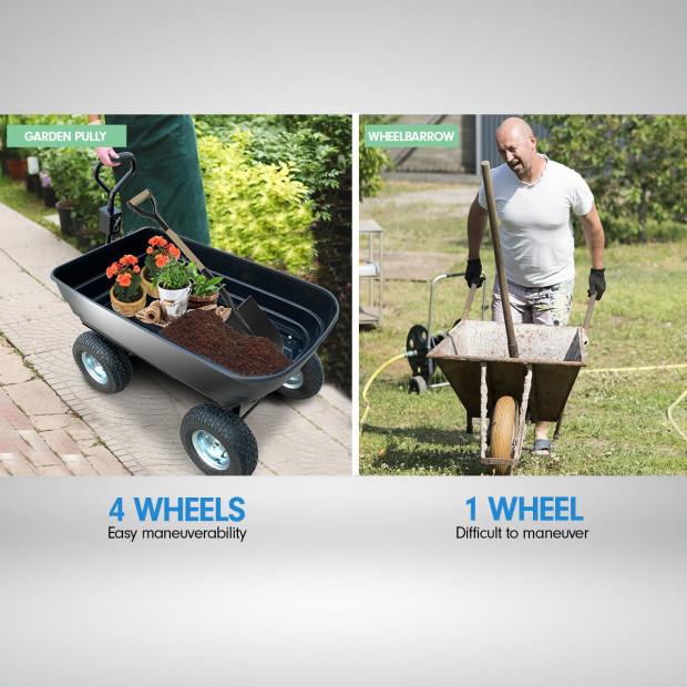 Garden Dump Cart Dumper Wagon Carrier Wheel Barrow 125L Image 4