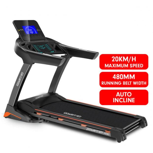 PowerTrain Treadmill V100 Cardio Running Exercise Fitness Home Gym