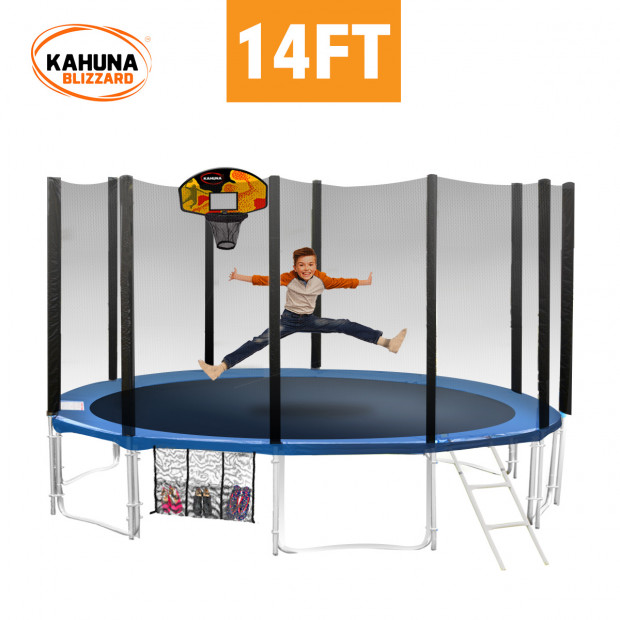 Blizzard 14 ft trampoline with net