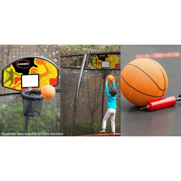 Kahuna Trampoline Basketball Ring Set with Mini Ball and Pump Image 4