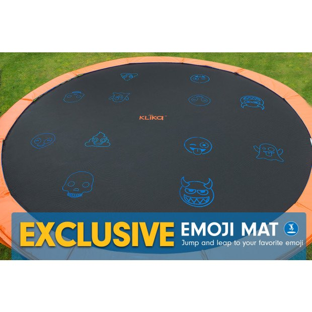 Kahuna Pro 16 ft Trampoline with Emoji Mat Reversible Pad Basketball Set Image 2