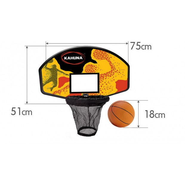Kahuna Trampoline Basketball Ring Set with Mini Ball and Pump Image 5