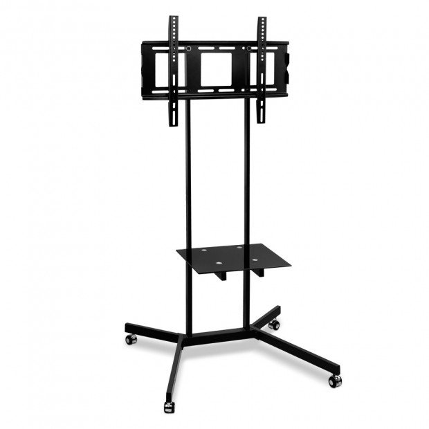 Portable TV Mount on Stand on Casters - Black