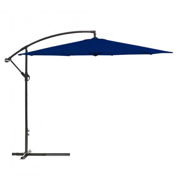 3m Cantilever Market Umbrella - Blue