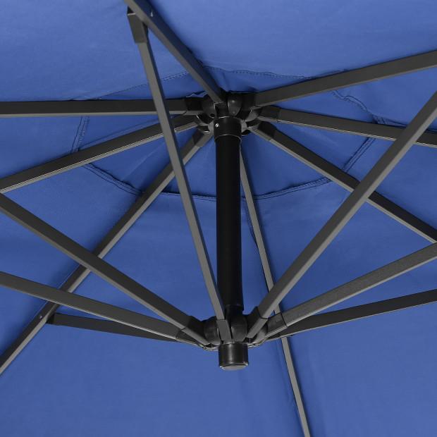 3m Cantilever Market Umbrella - Blue Image 4
