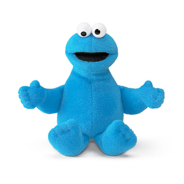 Sesame Street Mini Beanie Cookie Monster 15cm