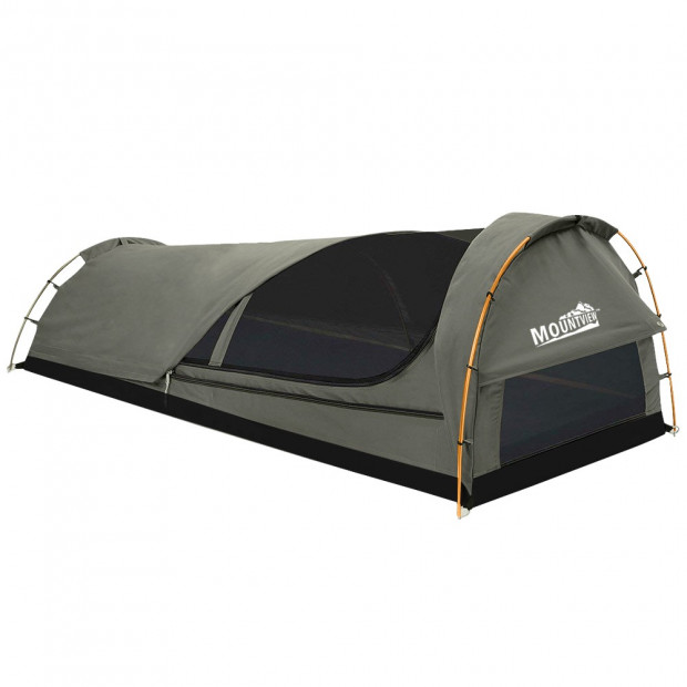 Dome Swag Camping Canvas Tent In Grey