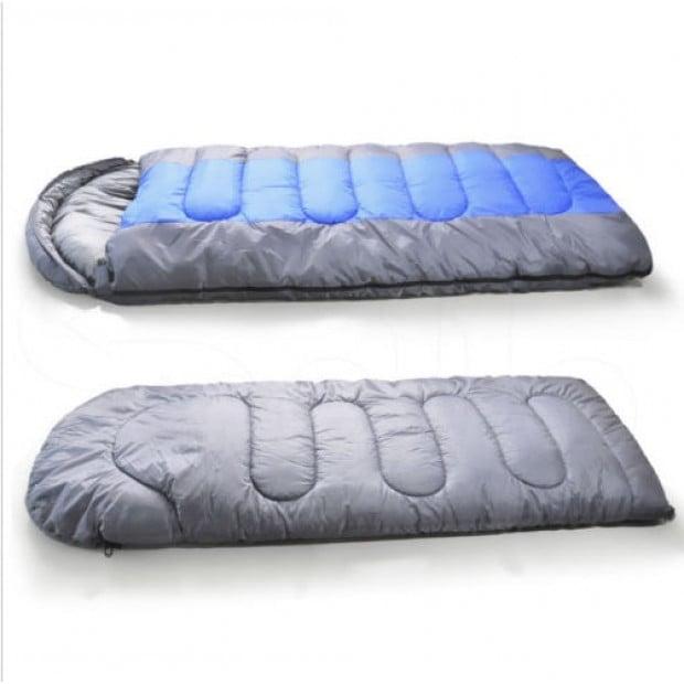 Thermal Single Outdoor Camping Sleeping Bag Mat Tent Hiking Blue