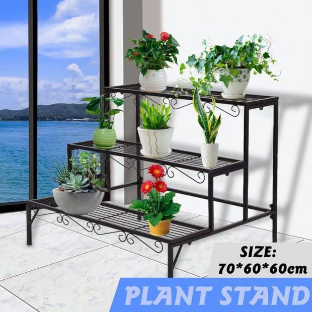 Outdoor Indoor Pot Plant Stand Garden 3 Tier Planter Shelves Shelf