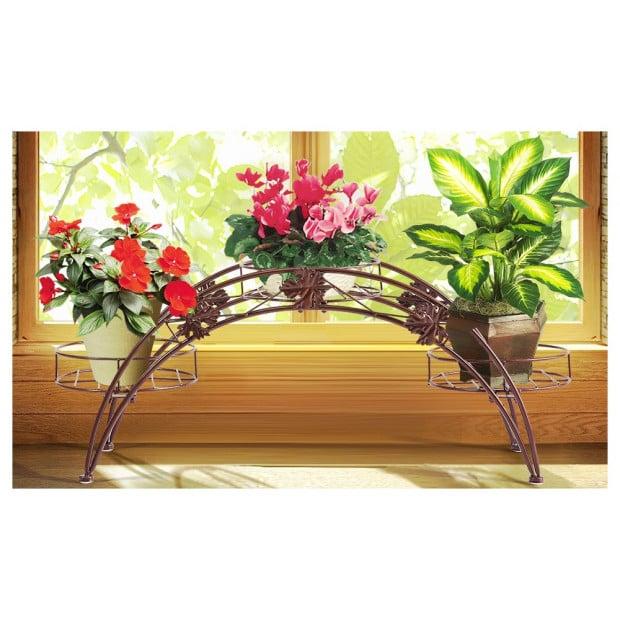 Outdoor Indoor Pot Plant Stand Garden Dcor Bronze
