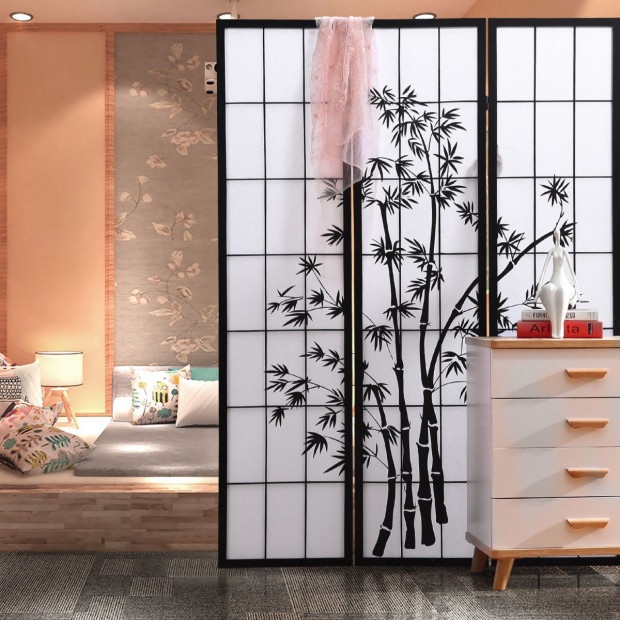 Levede 8 Panel Free Standing Foldable Timber Room Divider