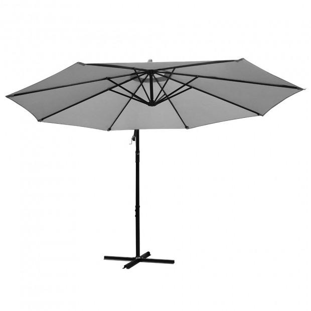3M Outdoor Furniture Garden Umbrella Grey Image 2