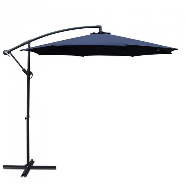 3M Cantilevered Outdoor Umbrella - Navy
