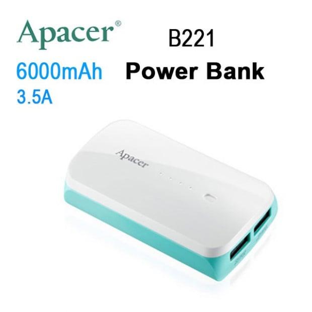 APACER Mobile Power Bank B221 6000mAh White RP