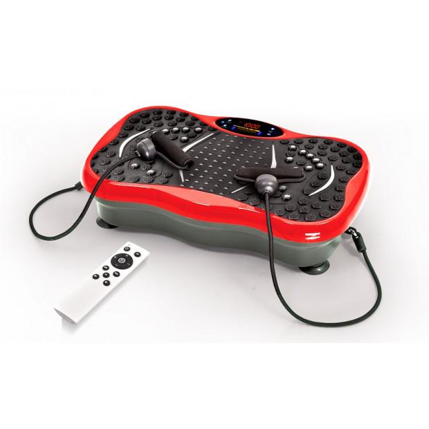 Vibration Machine Fitness Plate Bluetooth Massage Function Red Image 1
