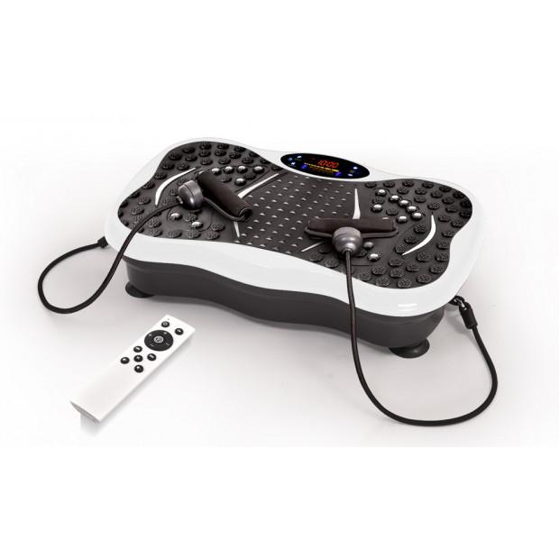 Vibration Machine Fitness Plate Bluetooth Massage Function White