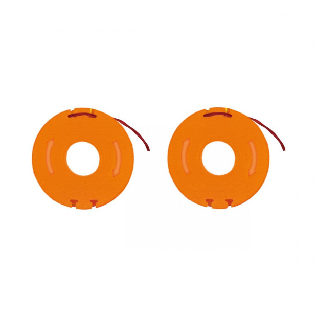 WORX WA0004 2-Pack Replacement Grass Trimmer Spool & Line 1.3m