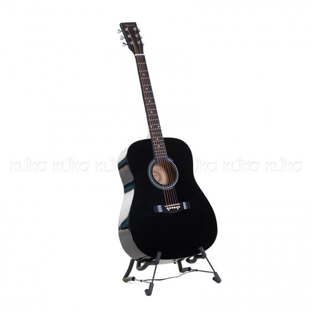 Karrera 41in Acoustic Wooden Guitar Black