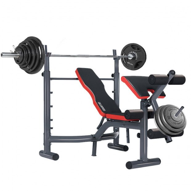 Powertrain Home Gym Workout Bench Press Preachers Curl Incline - 302