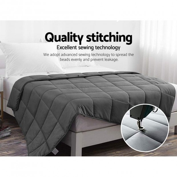 Bedding 2.3KG Cotton Weighted Gravity Blanket Deep Relax Kids Image 7