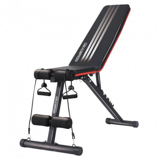 Powertrain Adjustable Incline Decline Flat Home Gym Bench FID