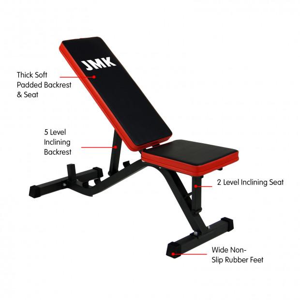 Adjustable Incline Decline Home Gym Flat Bench Image 4