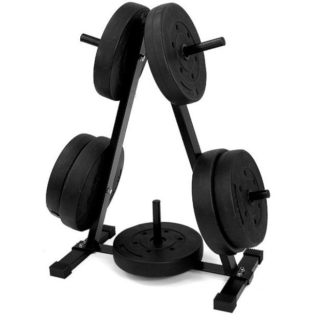 Powertrain Home Gym Weight Plates Storage Rack