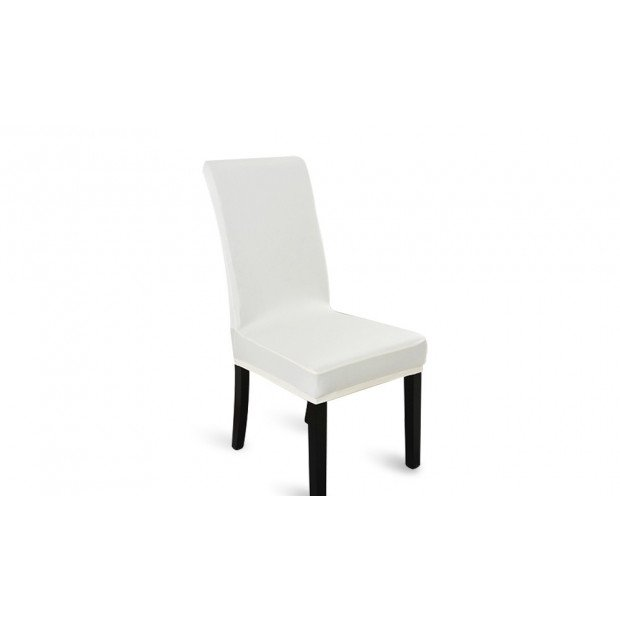 1x Stretch Elastic Dining Room Banquet Chair Cover White Image 1