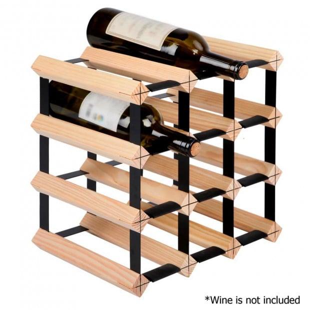 Timber Wine Rack 12 Bottles Image 2