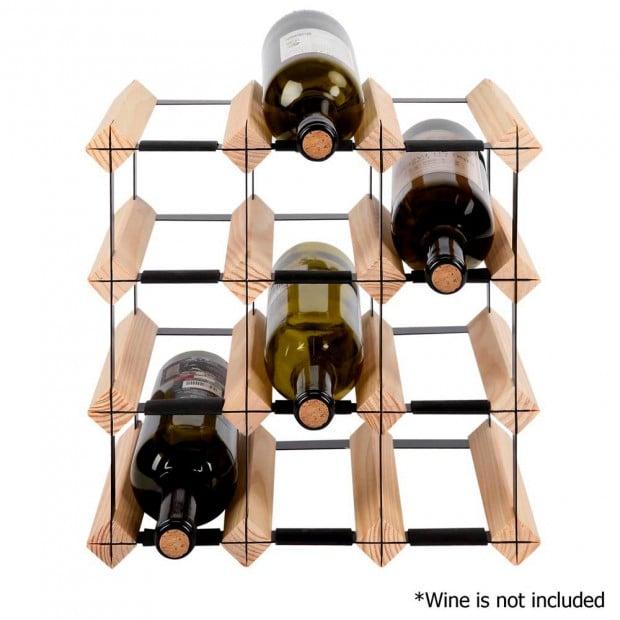 Timber Wine Rack 12 Bottles Image 3