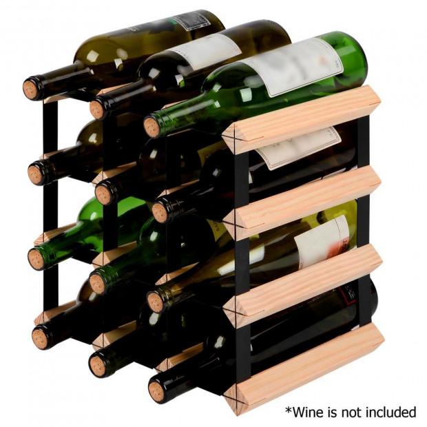 Timber Wine Rack 12 Bottles Image 4