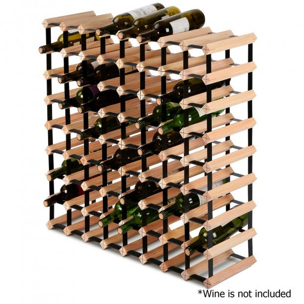 Timber Wine Rack 72 Bottles Image 4