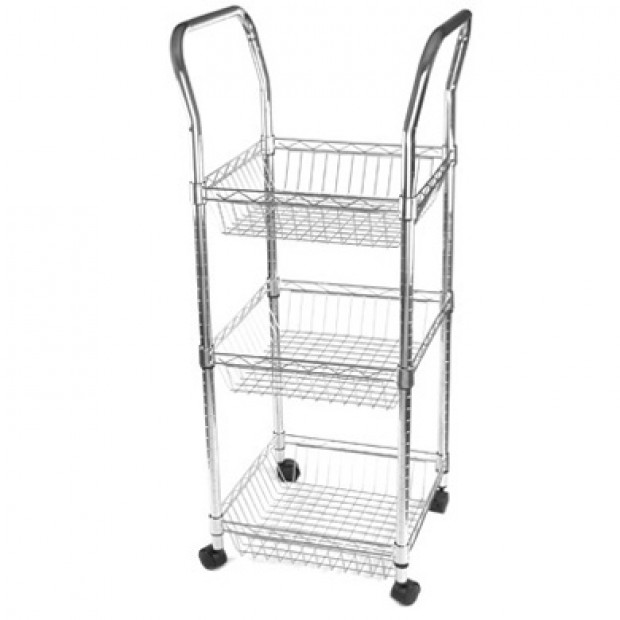 Wireform mobile basket trolley 450x450