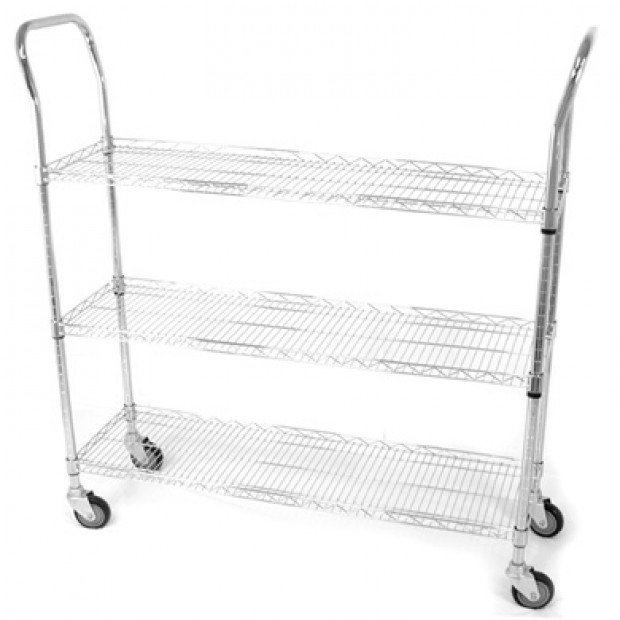 Wireform mobile basket trolley cart 1200x350