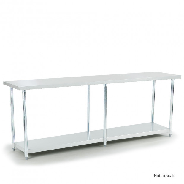 304 Stainless Steel prep bench 600 x 2400