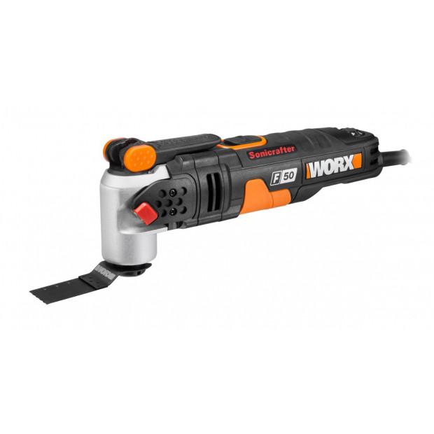 WORX WX681 450W Sonicrafter Multitool, Hyperlock, 39 pce acc kit