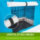 Foldable Metal Wire Dog Cage w/ Cover - BLUE 24