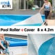 Swimming Pool Roller Cover Combo 400micron - Silver/Blue - 8m x 4.2m thumbnail