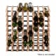 Timber Wine Rack 72 Bottles Image 3 thumbnail
