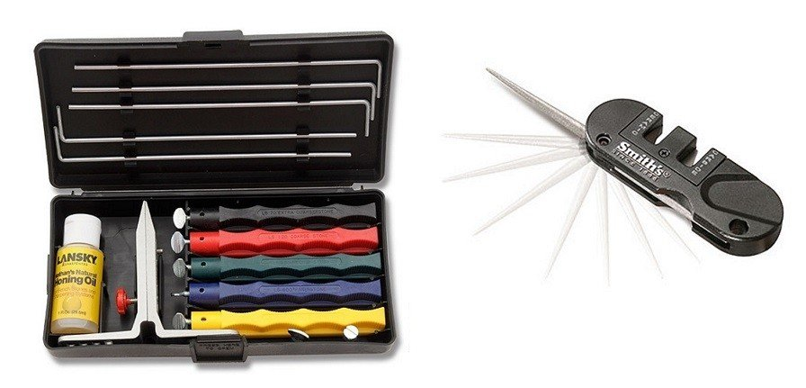 Lansky Deluxe Knife Sharpening System with Smiths Abrasives