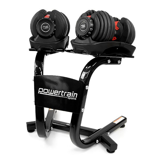 Powerblock Generator: Powertrain Adjustable Dumbbell Set With Stand