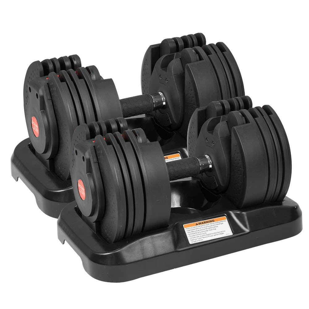 2x Gen2 Powertrain Adjustable Home Gym Dumbbells