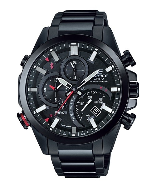 Casio Edifice Analogue Bluetooth Solar Mens Black Watch