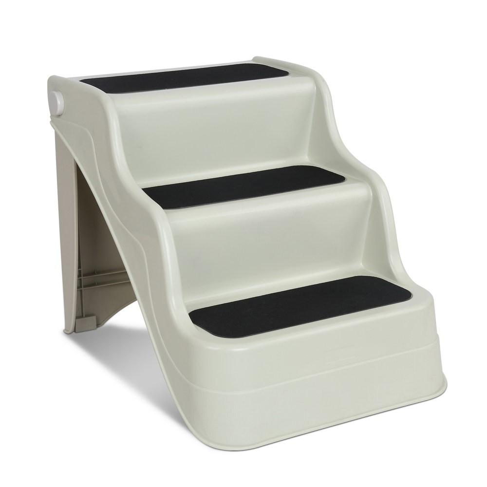 3 Step Portable Folding Non Slip Ladder - Beige