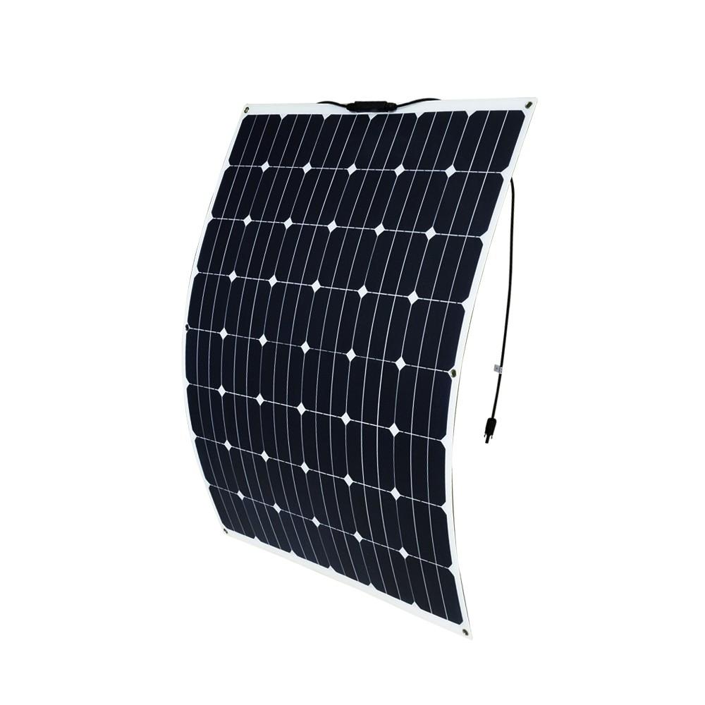 200W 12V Flexible Solar Panel Generator Caravan Camping Power Mono Charging Kit