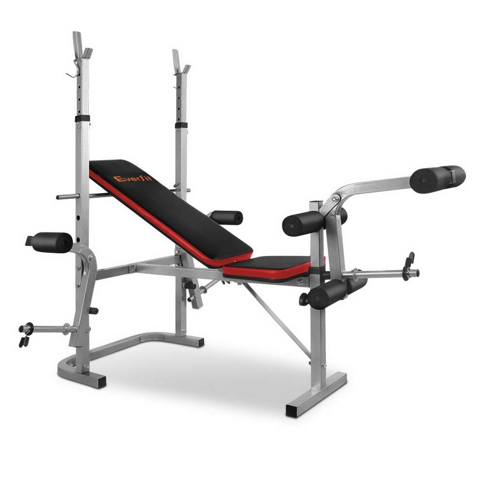 7-in-1 Adjustable height and incline levels Weight Bench - Grey